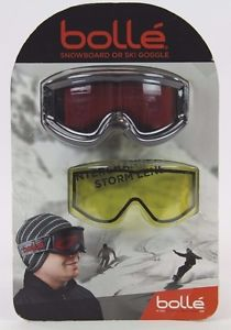 Bolle O'Hara Anti-fog Snowboard Ski Men's Goggles + Extra Interchangeable Lens by