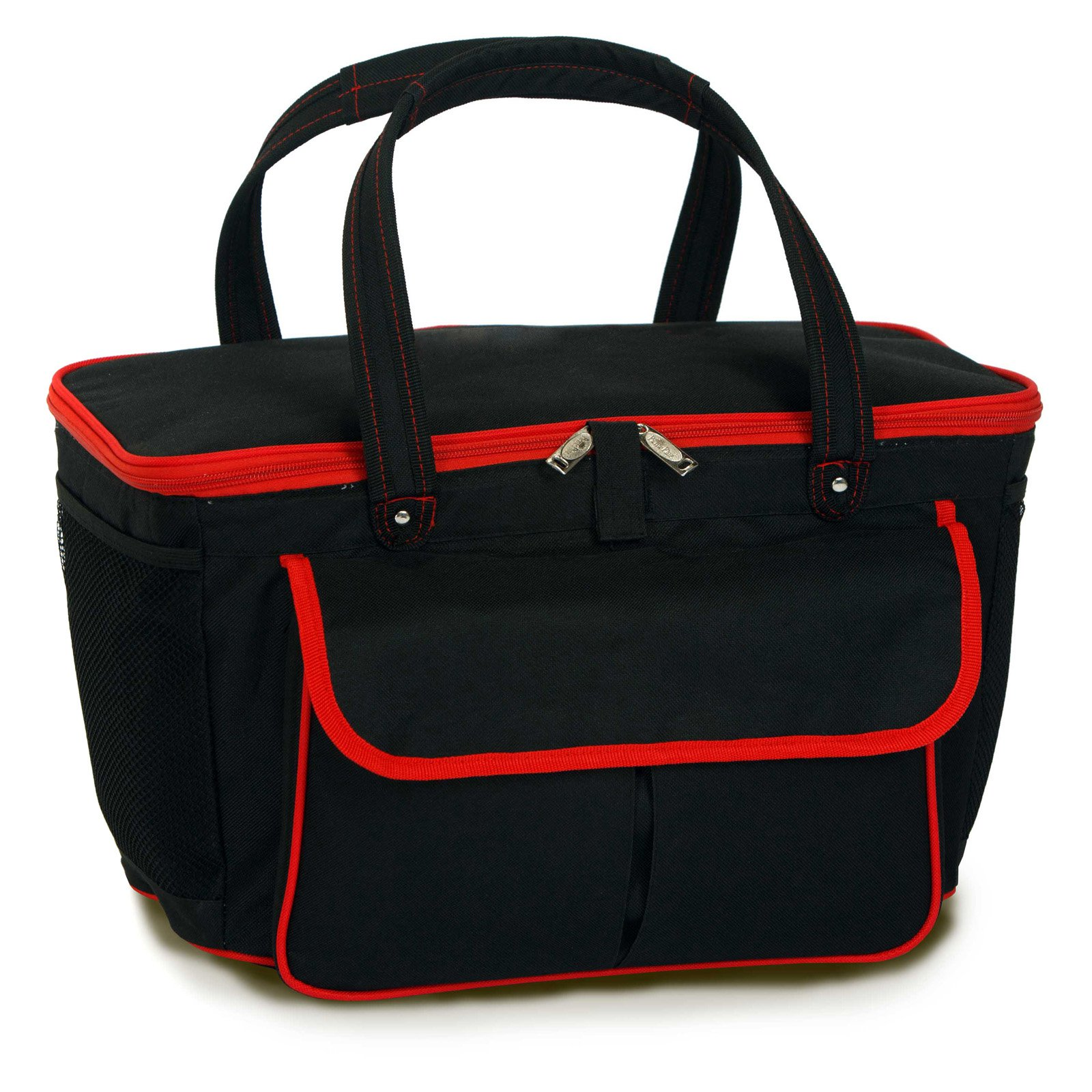 Picnic Plus Avanti Cooler Tote - Black / Red