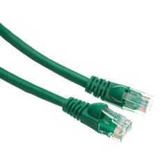 CableWholesale 14-Feet CAT5E, UTP, with Molded Boot, 350MHz, Green (10X6-05114)