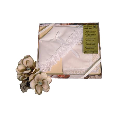 Little Things Mean a Lot Christening Bonnet to Trousseau Wedding Hankie Gift Box with