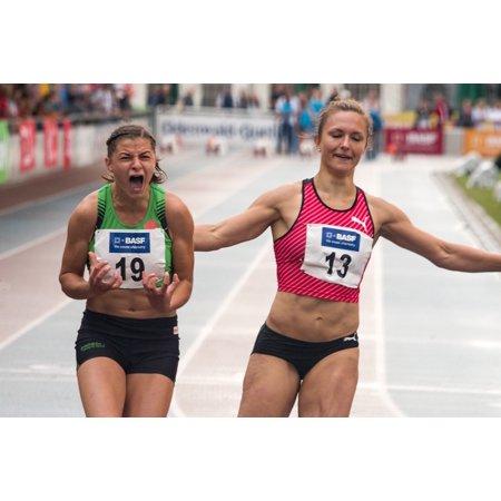 Canvas Print Career Women Sprint Athletics Race Sport Run Stretched Canvas 10 X