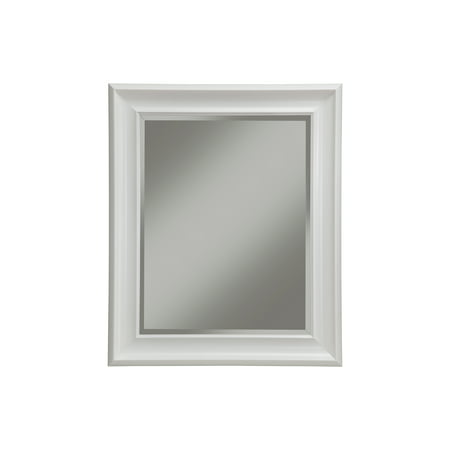 White Wall Beveled Mirror 36