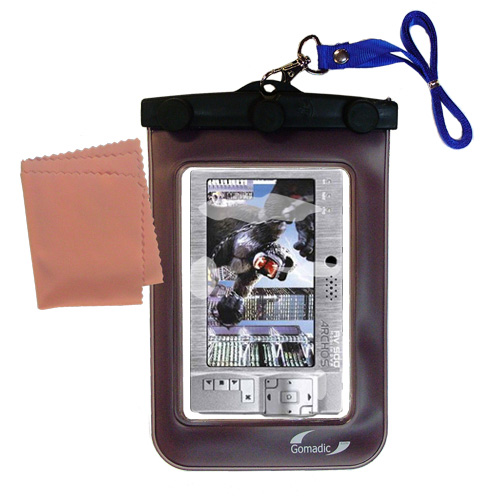 Gomadic Clean and Dry Waterproof Protective Case Suitablefor the Archos AV500 Series to use Underwater