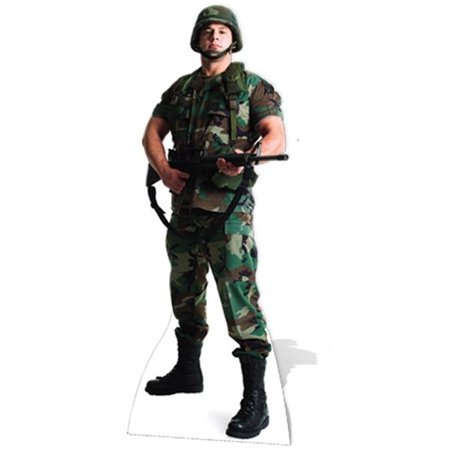 Customized Cardboard Cutouts (Star Cutouts SC388 US Soldier Cardboard Cutout)