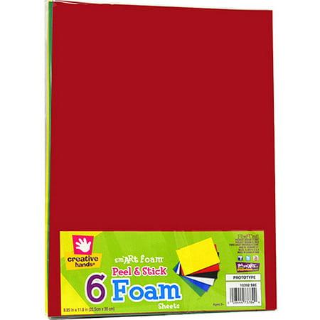 Peel & Stick Foam Sheets, Basic Colors, 6pk