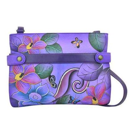 Hands Media - Women's ANNA by Anuschka Hand Painted Leather Medium Crossbody 8233  10.25