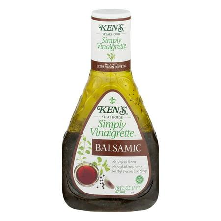 Ken's Steak House Simply Vinaigrette Balsamic Salad Dressing - 16fl oz