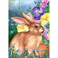 Toland House Flag - Blooming Bunny