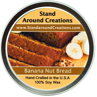 - BANANA NUT BREAD TIN 8-OZ. ALL NATURAL SOY CANDLE