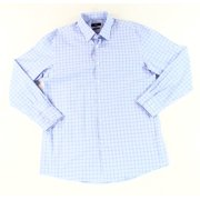 Boss Hugo Boss NEW Blue White Mens Size 16 Sharp Fit Dress Shirt $125