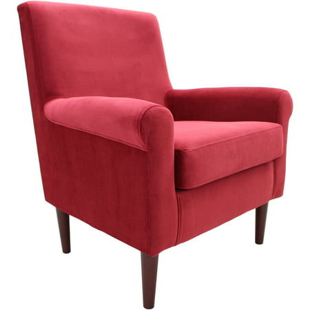 Fox Hill Ellis Rolled Arm Lounge Chair, Red