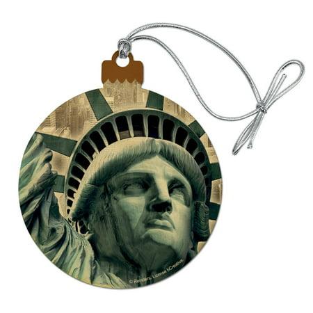 Statue of Liberty New York City Wood Christmas Tree Holiday Ornament ()