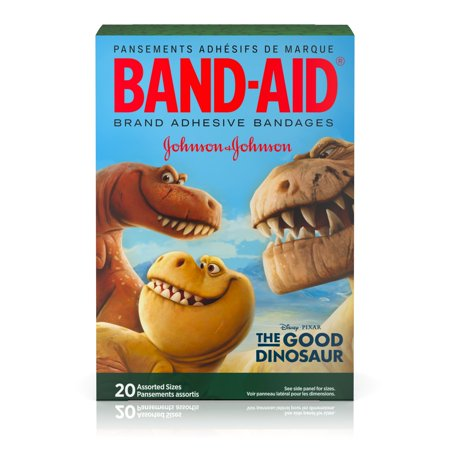(Band-Aid Brand Adhesive Bandages Featuring Disney/Pixar, The Good Dinosaur, Assorted Sizes, 20 Count)