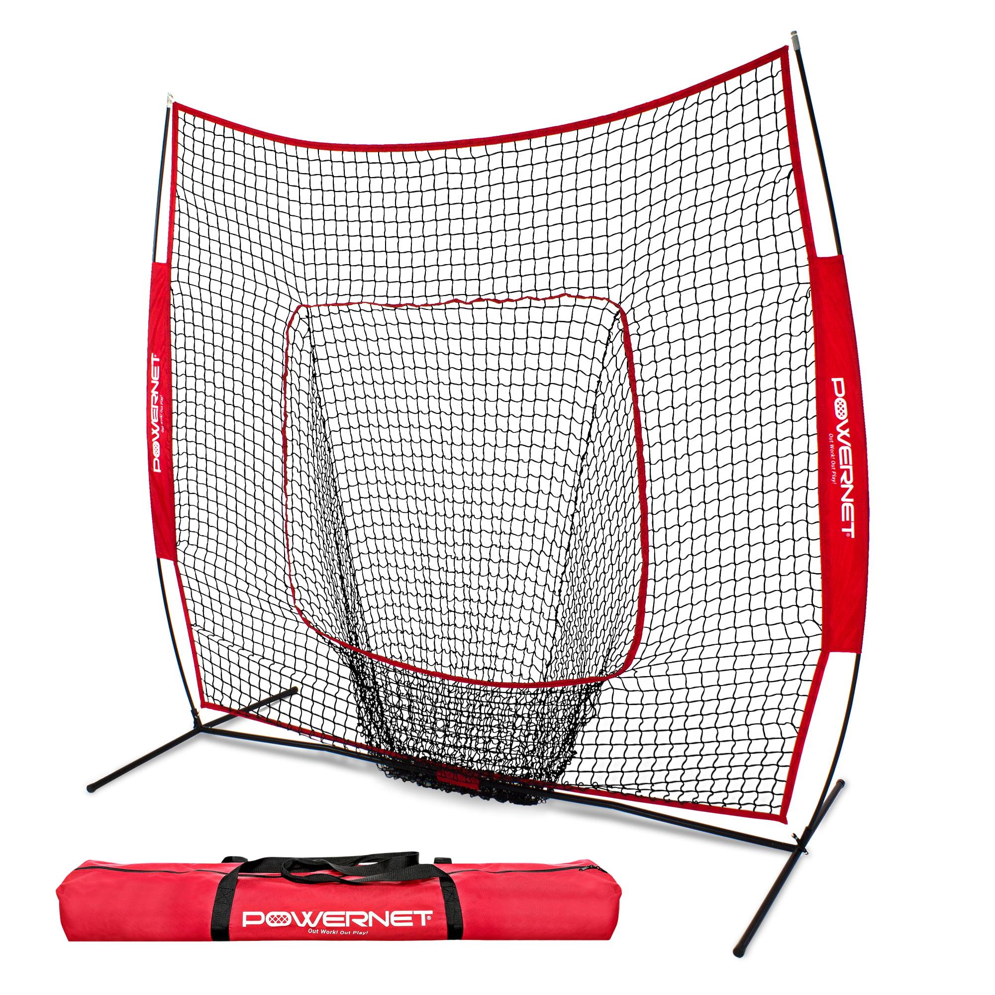 PowerNet DLX 2.0 Baseball Softball Hitting Net w// 3 Progressive Weighted Balls