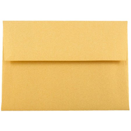 JAM Paper 4Bar A1 Invitation Envelope, 3 5/8 x 5 3/4, Stardream Metallic Gold,