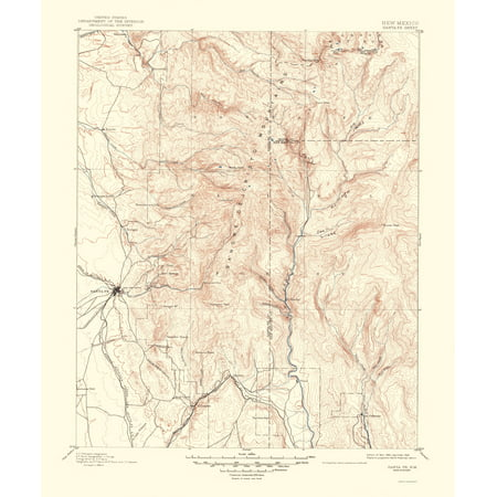 Old Topographical Map Print - Santa Fe New Mexico - USGS 1948 - 23 x ...