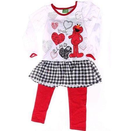 Elmo Toddler Girls 2pc Set I Love Fun (4T) Elmo Baby Clothes