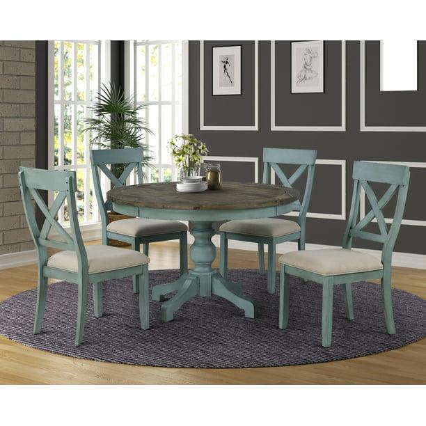 The Gray Barn Spring Mount 5 Piece, Round Farmhouse Kitchen Table Sets