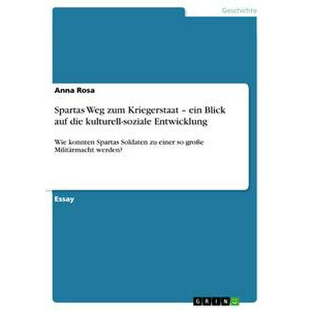 Sparta Tank (Spartas Weg zum Kriegerstaat - ein Blick auf die kulturell-soziale Entwicklung - eBook )