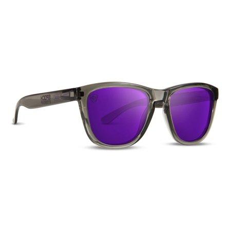Epoch Lutzka X Epoch Skateboarding Sport Sunglasses Grey with Purple Mirror (Cheap Skate Sunglasses)