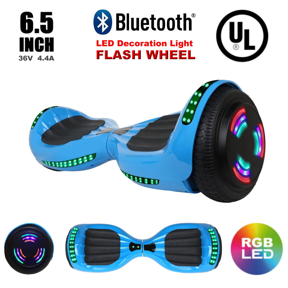 Click here to buy Hoverheart UL2272 Certified Bluetooth 6.5 Inch LED Flash Wheel Bluetooth Hoverboard Two Wheel Self Balancing Scooter....