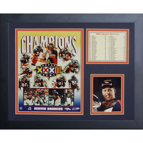 Legends Never Die Denver Broncos Super Bowl 32 Framed Memorabili