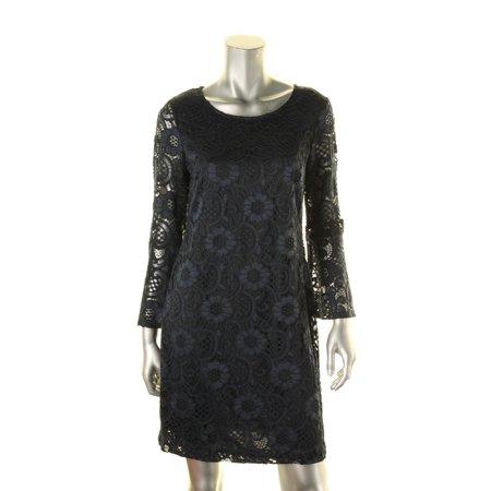 Signature By Robbie Bee Womens Petites Lace Bell Sleeves Semi-Formal Dress  - Walmart.com d4976fecc