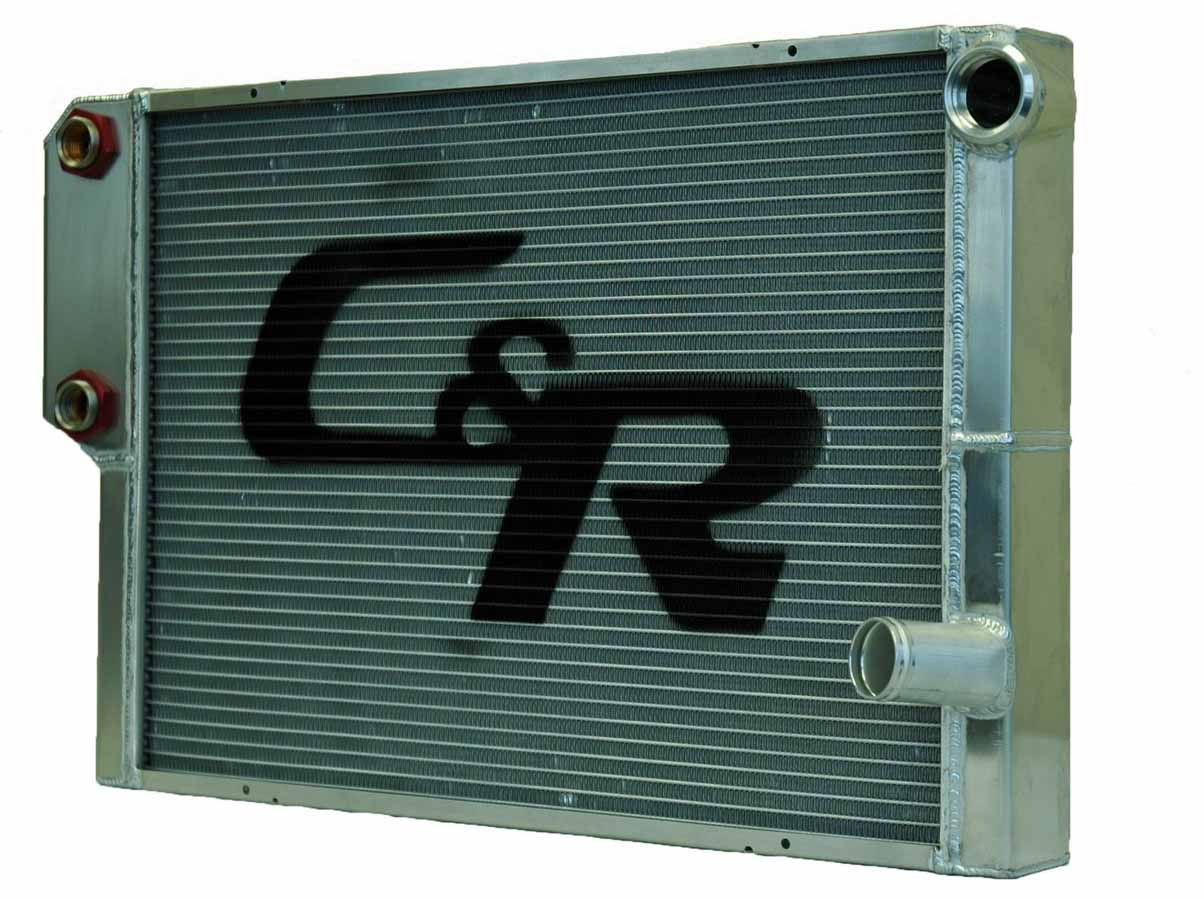 """C AND R 28"""" W x 19"""" H x 1-3 4"""" D Aluminum Dual Pass Radiator P N 805-28191 by C AND R Racing Radiators"""