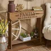 """Farmhouse Sentiment Console Table - """"Family"""" - Rustic Country Decor"""