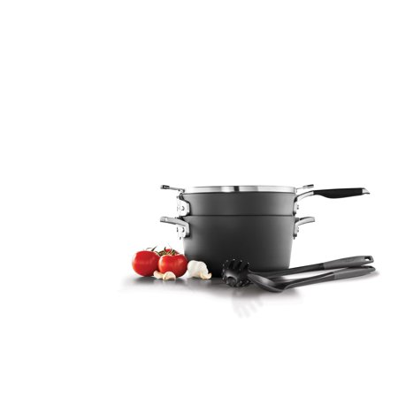 Select by Calphalon Space Saving Hard-Anodized Nonstick Pasta Cookware Set, 5 Piece
