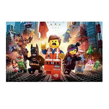 Movie Case Topper Card - Lego Movie Runing Edible Frosting Image  Cake Topper- 1/4 Sheet -