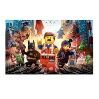 Product Image Lego Movie Runing Edible Frosting Cake Topper 1 4 Sheet