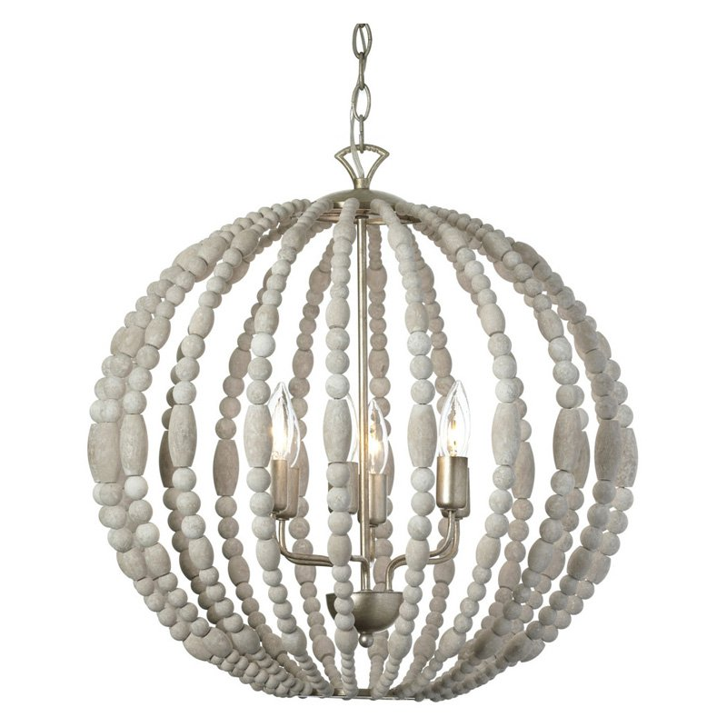 Dainolite Laura LAU-216C-PG 6 Light Chandelier