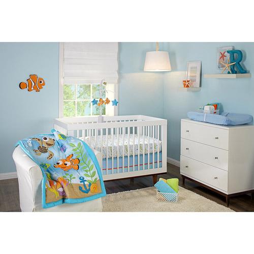 Disney Nemo Day At Sea Crib Nursery Bedding Walmart Com