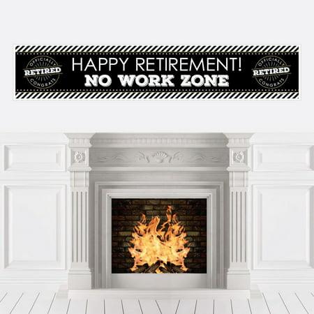 Happy Retirement - Retirement Party Decorations Party - Retirement Party Banners
