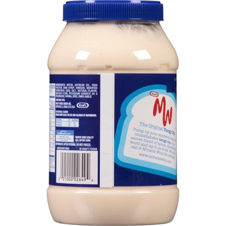 kraft miracle whip dressing original 30 fl oz 887ml jar best condiments. Black Bedroom Furniture Sets. Home Design Ideas