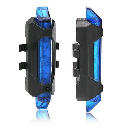 Bike Light, Super Bright Waterproof 5 LED Lamp USB Rechargeable Bike Light Back Rear Lights Easy To Install for Kids Men Women Road Emergency Light Cycling Safety Flashlight -