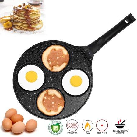 10 Inch Nonstick PFOA Free Pancake Fried Egg Blini Pan Griddle with Bakelite Handle (Black)