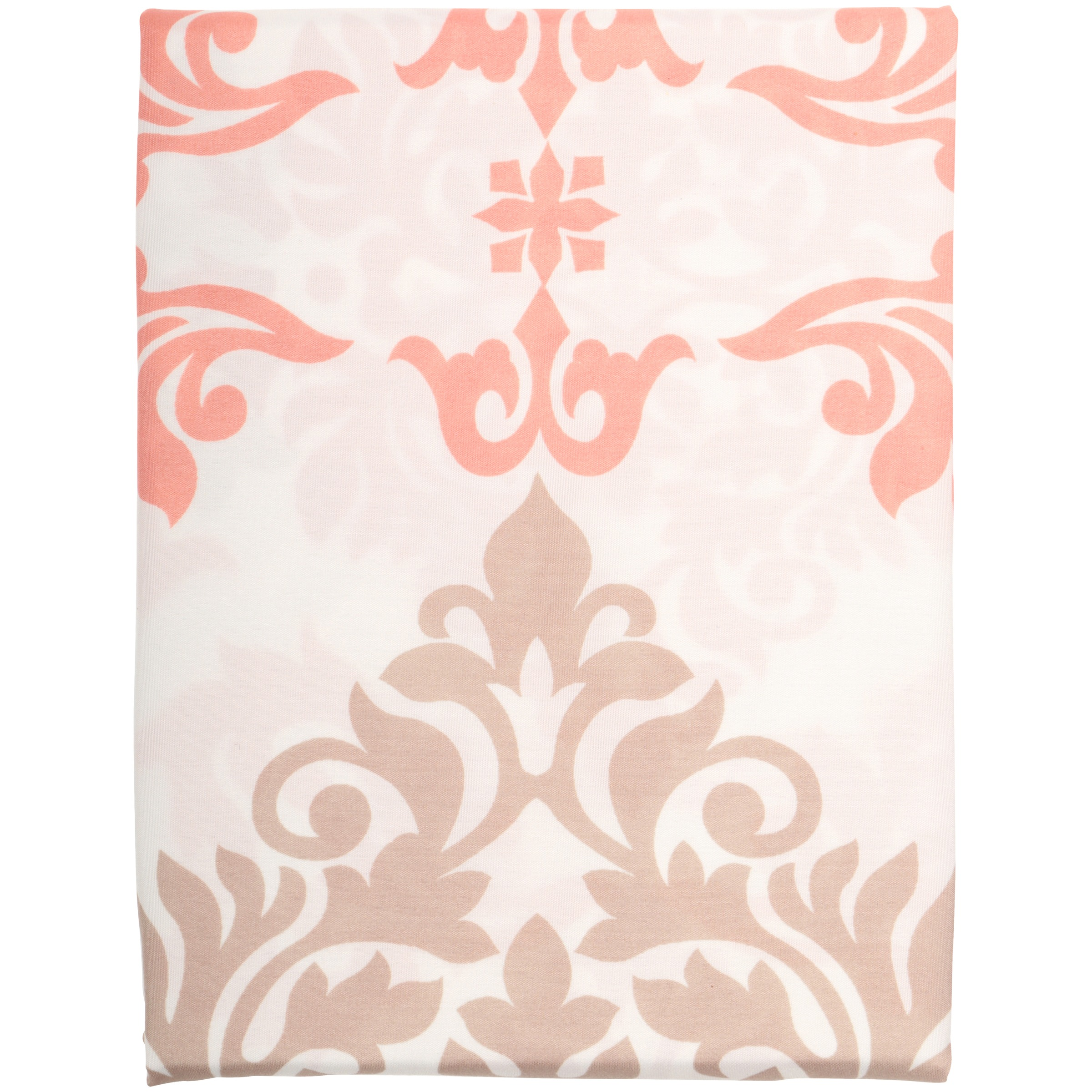 Mainstays Coral Damask Fabric Shower Curtain Walmart Com Walmart Com