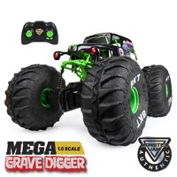 Monster Jam, Official MEGA Grave Digger All-Terrain Remote Control Monster Truck with Lights, 1:6 Scale