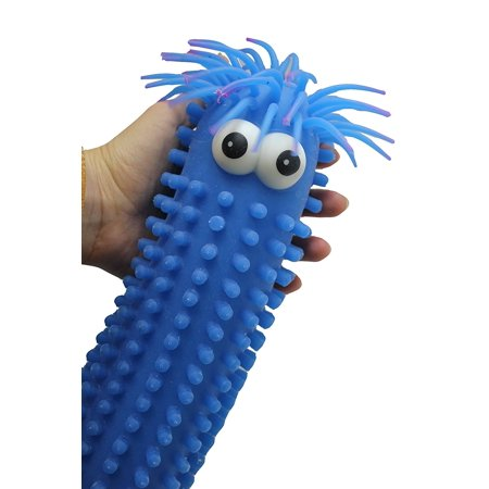 Giant Knobby Puffer Worm - Sensory Fidget and Stress Balls - OT Autism SPD (RANDOM COLOR) (Bunny Balls)