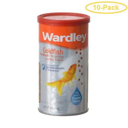 Wardley Goldfish Floating Pellets Medium Pellets - 5 oz - Pack of 10 ()