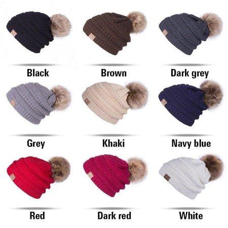 357697859a5 Freshlook - Bubble Knit Slouchy Baggy Beanie Oversize Winter CC Hat Ski  Slouchy Cap Skull Women - Walmart.com