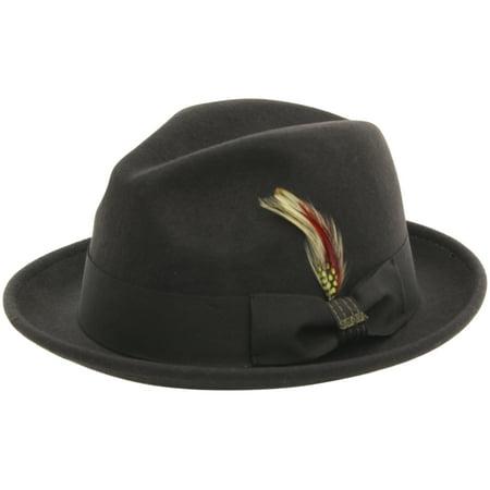 6c499f8165c03 Scala Classico - Scala Classico Men s Crushable Chocolate Wool Felt Snap  Brim Fedora Hat - Walmart.com