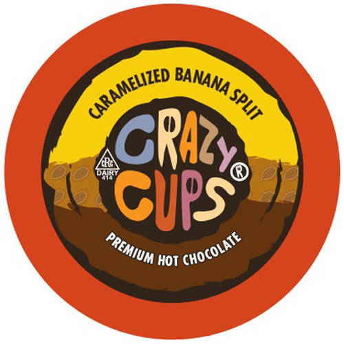 Crazy Cups Caramelized Banana Split Premium Hot Chocolate Single Serve Cups, 22 count