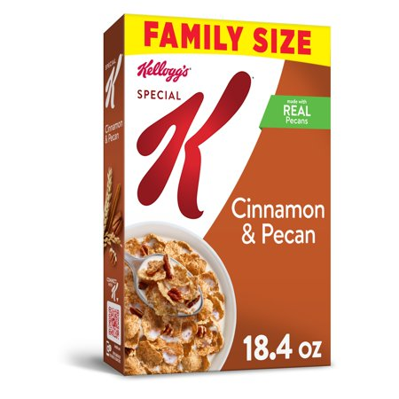 Kellogg's Special K, Breakfast Cereal, Cinnamon and Pecan, Family Size, 18.4 Oz