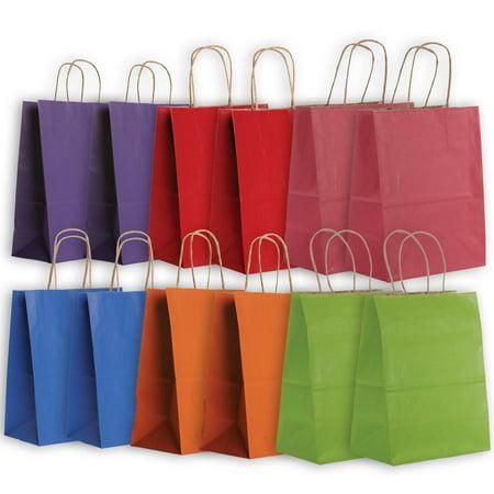 Jillson   Roberts Eco Friendly Kraft Medium Gift Bag Assortment  Bright  12 Bags
