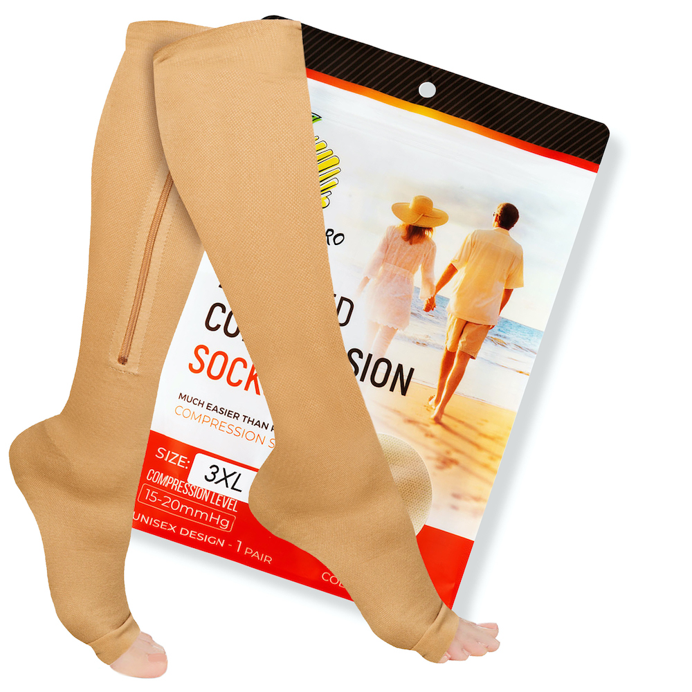 Edema Varicose Veins Knee High Compression Stockings Swelling Open-Toe 1 Pair Blue S Ankle /& Arch Support Firm Support 20-30 mmHg Opaque Maternity Pregnancy Compression Socks