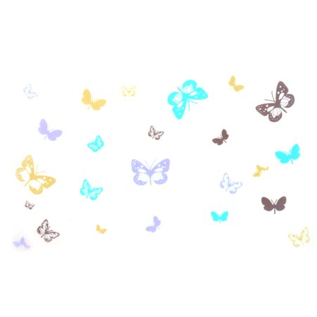 Decor DIY Butterfly Pattern Waterproof Wall Sticker Decal Mural 60x45cm - Halloween Paper Cutting Patterns