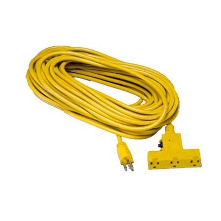 Alert Stamping CST 100T Tri Tap Outdoor Extension Cord with Circuit Br